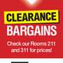 Don't Forget To Check Out The Clearance Bargains